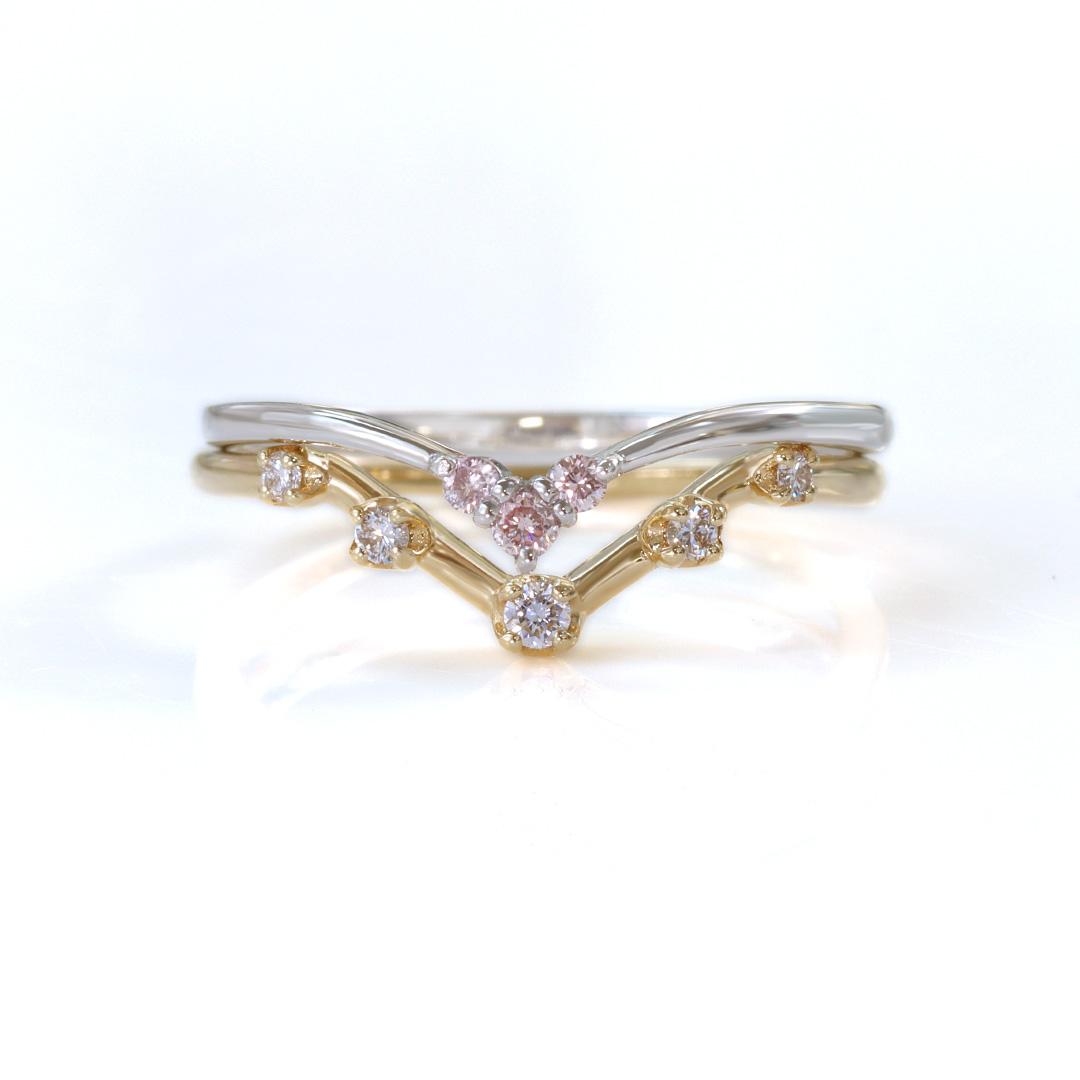 ダイヤモンド(SIクラス) K18/PTリング・ブリエ