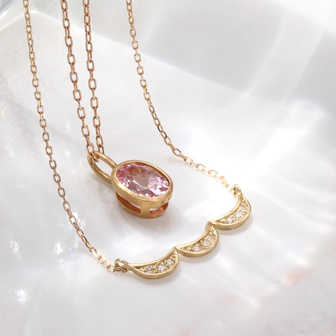 ダイヤモンド K18ネックレス・シフォン