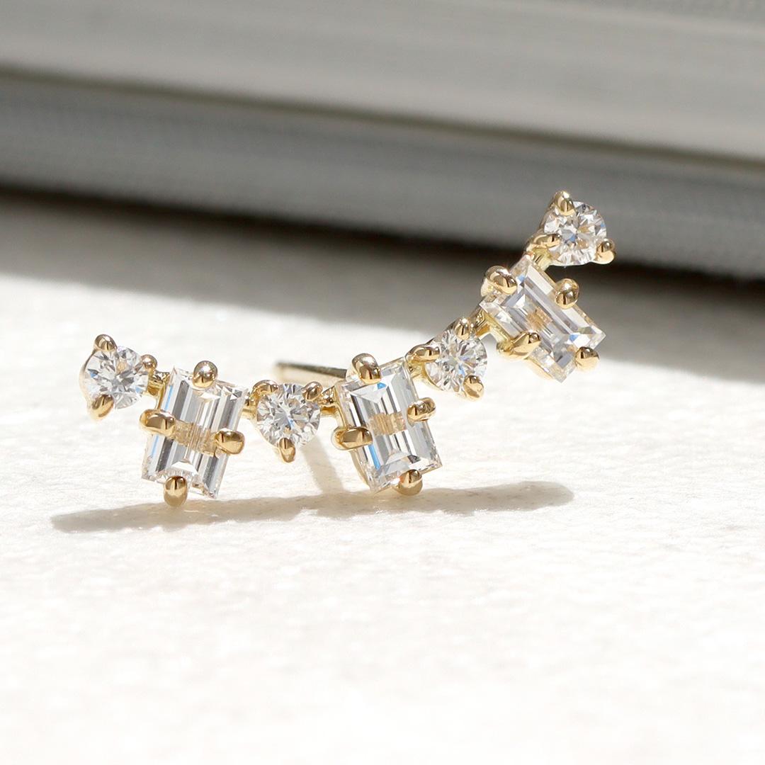 ダイヤモンド K18ピアス・グラース
